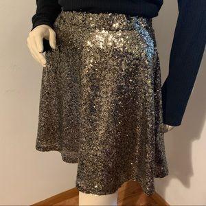 Xhilaration gold sequins skirt